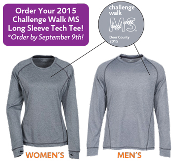 Challenge Walk MS 2015 Long Sleeve Tech Tee